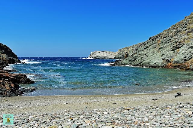 Playa Ligaria, isla de Folegandros (Grecia)