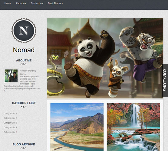 Nomad Blogger template