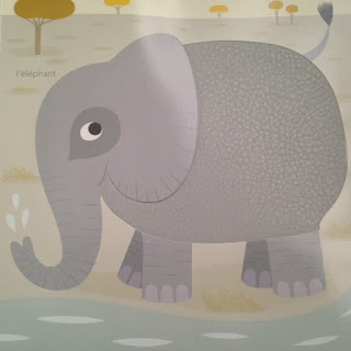 Mon imagier des couleurs à toucher - l'éléphant -  Editions MILAN
