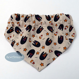 Halloween Dog Bandana, Black Cats