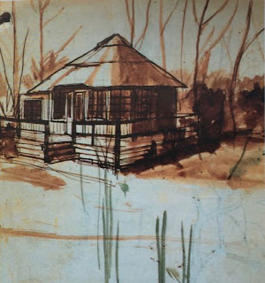Bungalow at the Broads, Pauline Boty, 1953
