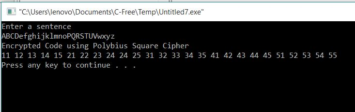Encryption using Polybus Cipher