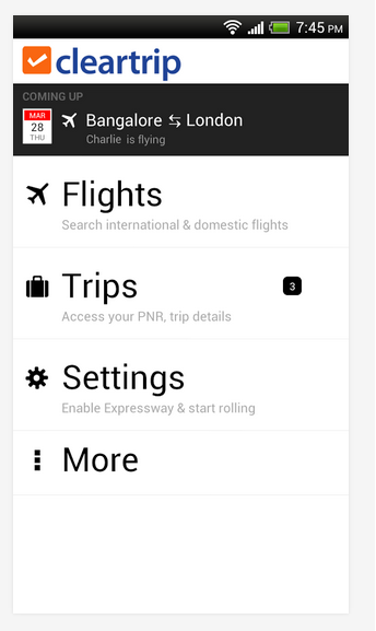Cleartrip android apps for mobile