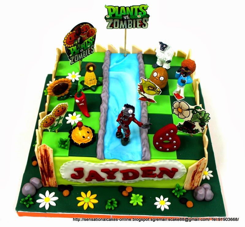Birthday Table Acnl: The Sensational Cakes: PVZ CAKE SINGAPORE / PLANTS ZOMBIES