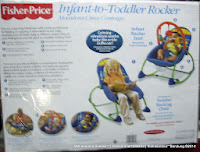 Baby Bouncer Fisher-Price Infant-Toddler Portable Rocker up to 18 kg