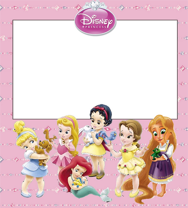 Disney Princess Babies: Free Printable Party Invitations or Cards ...