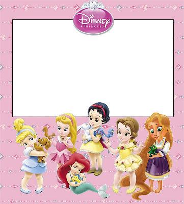 Princesas Bebés Disney: invitaciones para imprimir gratis. | Ideas y ...