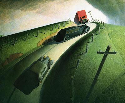 Grant Wood - Death on Ridge Road,1935