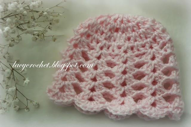 Lacy Crochet Free Crochet Baby Hat Patterns
