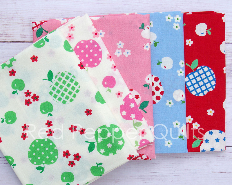 30's Collection by Atsuko Matsuyama - Fancy Apple for Yuwa Fabrics