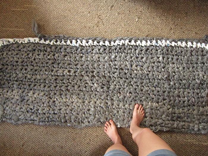 crochet, plarn, rug