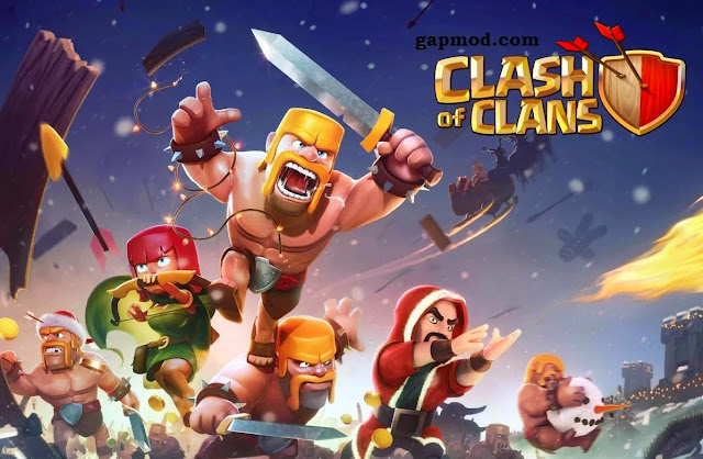 RIALSOFT.com - Clash of Clans 7.65.5 Mod Apk (UNLIMITED GEMS & GOLD INFINITE)