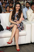Kyra Dutta in a Deep neck Small Dress at Shamanthakamani pre release function ~  Exclusive 057.JPG