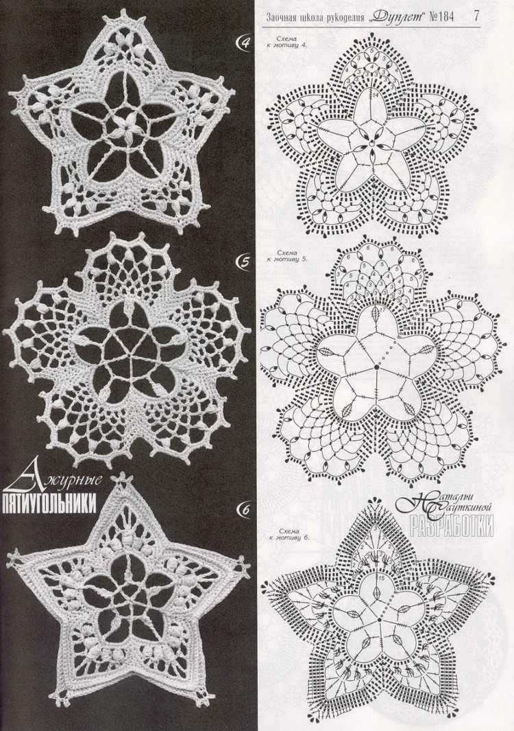 Crochet Motifs Russian Crocheted