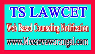 TS LAWCET 2016 Web Based Counseling Notification