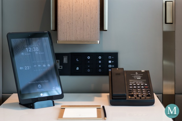 Ipad tablet in a Junior Suite at Four Seasons Hotel Kuala Lumpur
