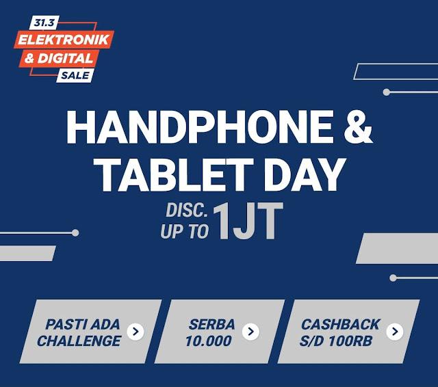 #Shopee - #Promo Diskon Hingga 1 Juta di Handphone & Tablet Day (HARI INI)