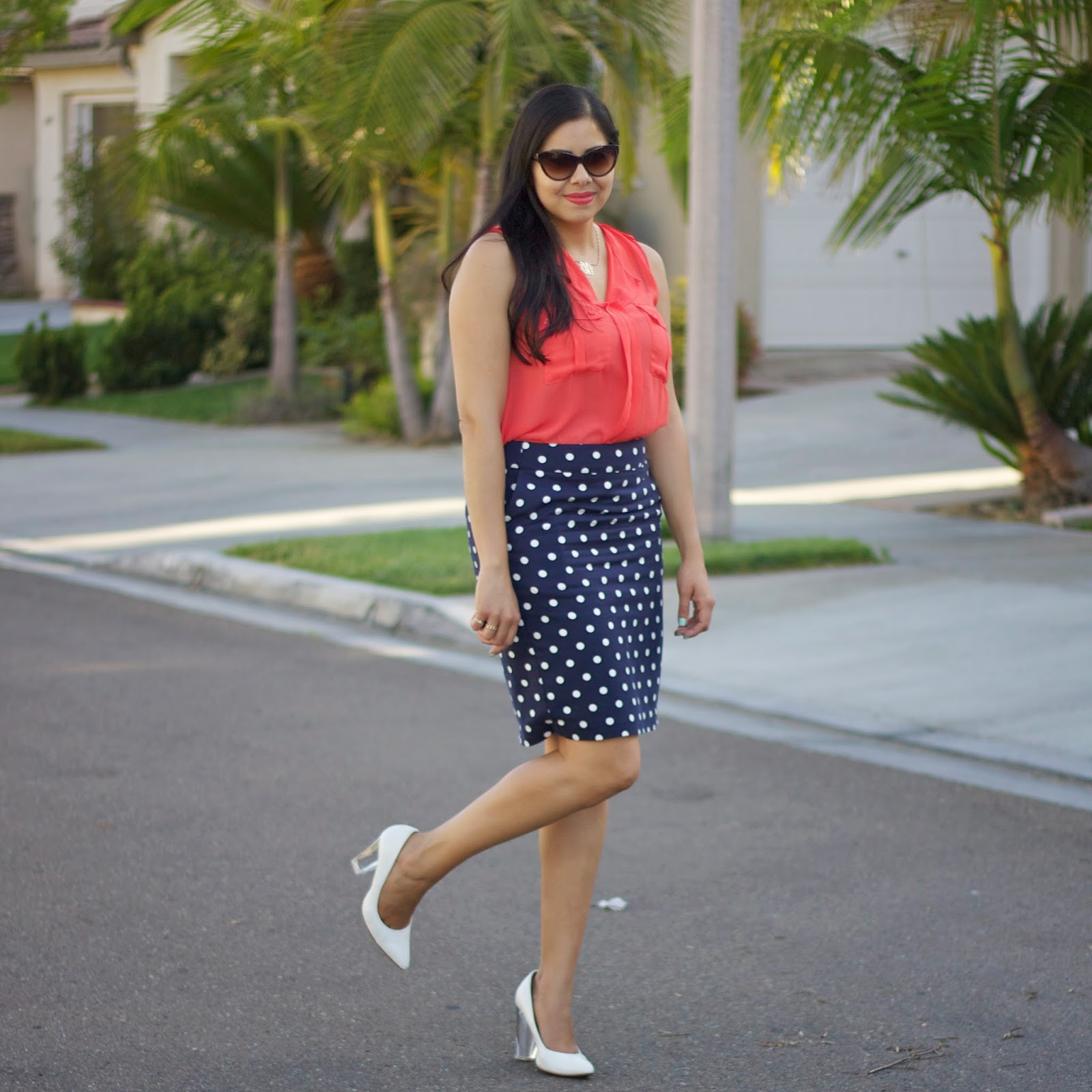 Outfit with white heels, san diego fashion blogger, san diego style blogger, lilbitsofpau, what to wear to the office