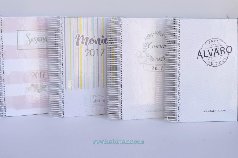 Nueva agenda personalizada 2017 diseño de Habitan2 | Papelería bonita, agenda anual 2017 | Agendas bonitas personalizadas by Habitan2
