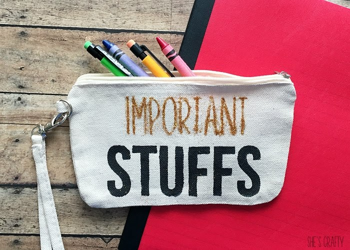Easily make a personalized pencil pouch