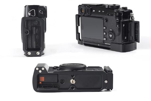 Sunwayfoto PFL-XPro2 L Plate w/ Grip on Fujifilm XPro2 II
