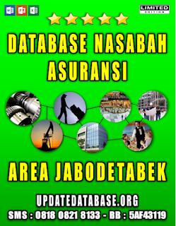 Jual Database Nasabah Asuransi Jabodetabek