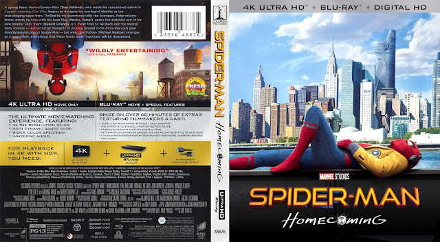 Spider-Man: Homecoming 4k Bluray Cover