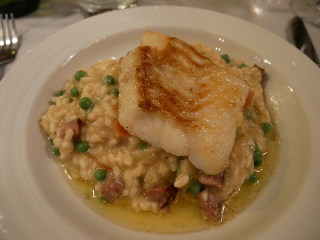 Monkfish risotto - Chalet Braye | Fish & Pips, Meribel Village