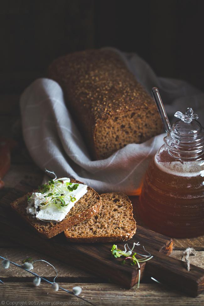 irlandzki chleb brązowy na drożdżach i melasie
