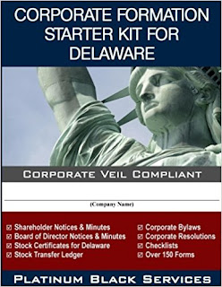 Corporate Formation Starter Kit for Delaware: Corporate Veil Compliant