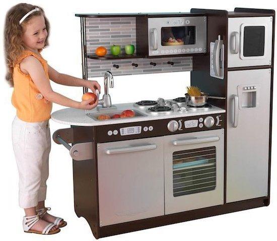 kidkraft uptown espresso kitchen 53260 - kitchen remodel, cabinet