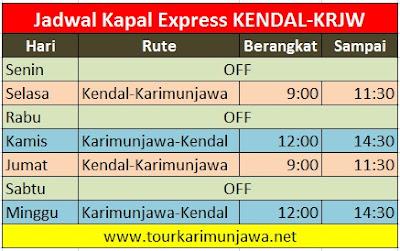 jadwal terbaru express kendal-karimunjawa pp