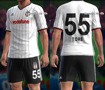 PES 2013 Besiktas 2016/2017 home kit by vladroman