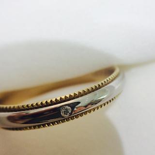 FURRERJACOT マッターホルン 新作 新作リング プラチナ ゴールド コンビ コンビ色 ミル打ち アンティーク 結婚指輪 婚約指輪 シンプル 鍛造 スイス