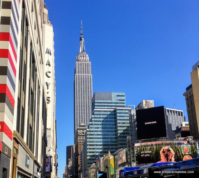Empire State y Macy's