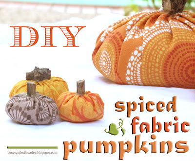 DIY spiced fabric pumpkins fall decor (centerpieces)
