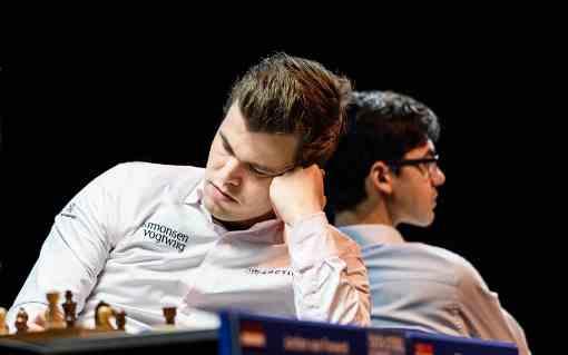 Magnus Carlsen et Anish Giri, les deux adversaires s'affrontent pour déterminer la vainqueur de l'édition 2019.