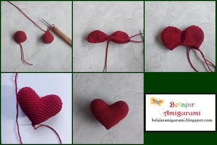 Pola Gratis Gantungan Kunci Amigurumi : Amigurumi hati love love love belajar amigurumi