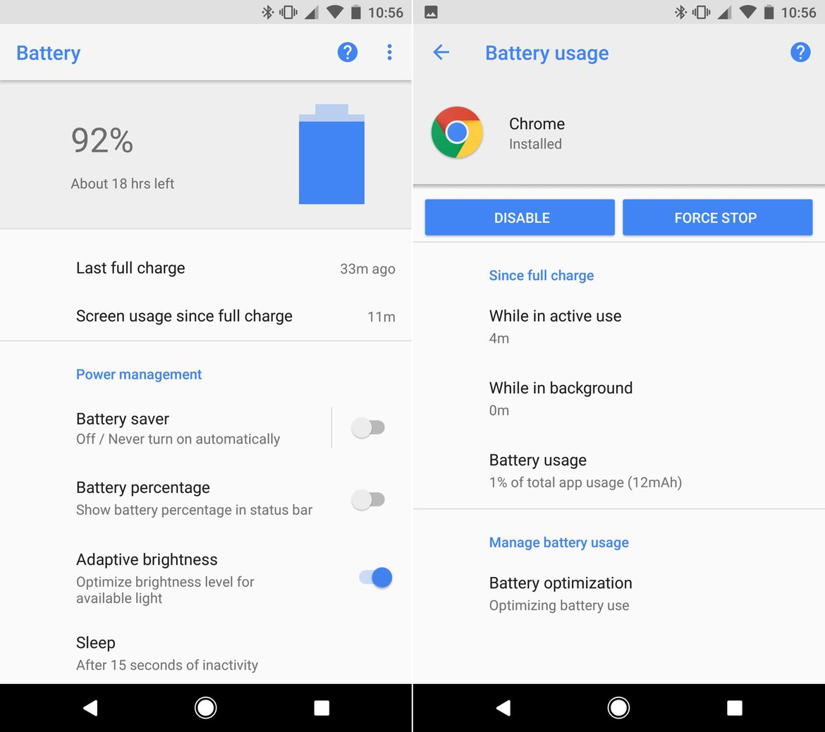Android O: Battery Saver