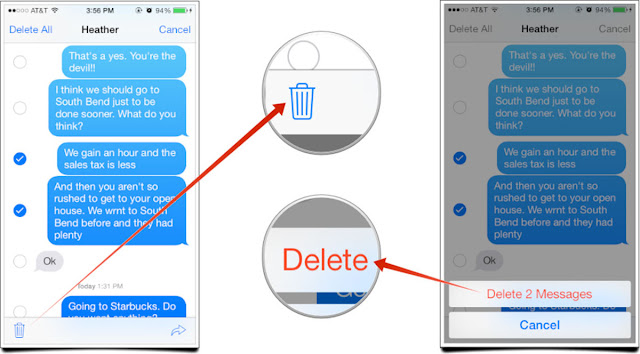 How to delete all texts on iphone 6s