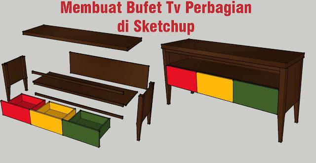 Tutorial Membuat Rak Tv Di Sketchup