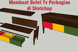 Tutorial Membuat Rak Tv Di Sketchup