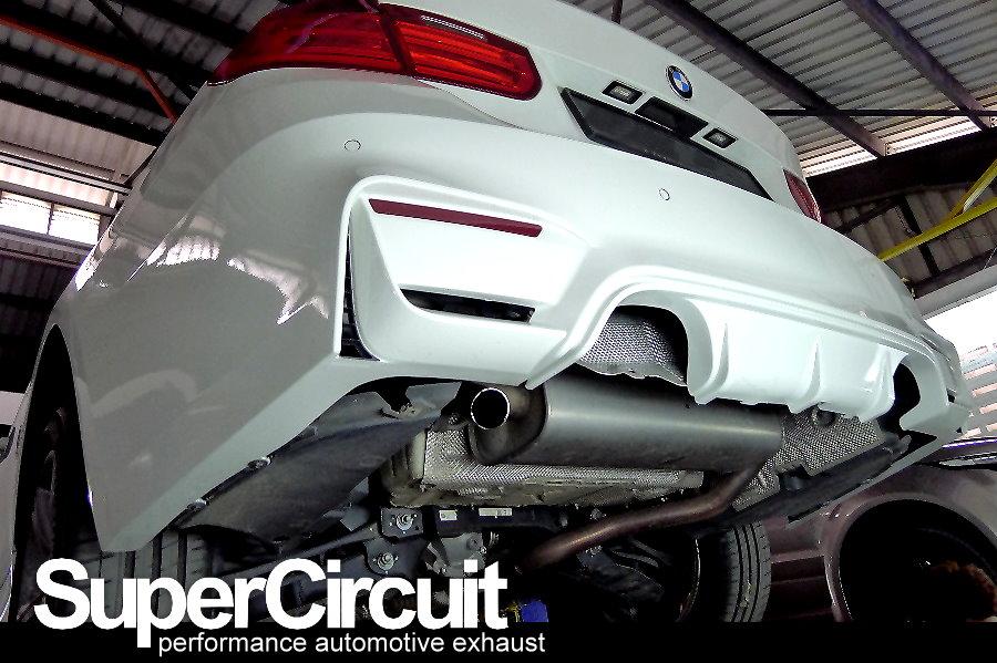 Supercircuit Exhaust Pro Shop Quad Exhaust Conversion Of Bmw 320i F30
