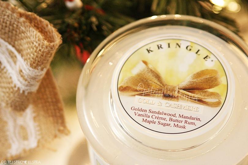 nuty zapachowe w świecy kringle candle gold & cashmere