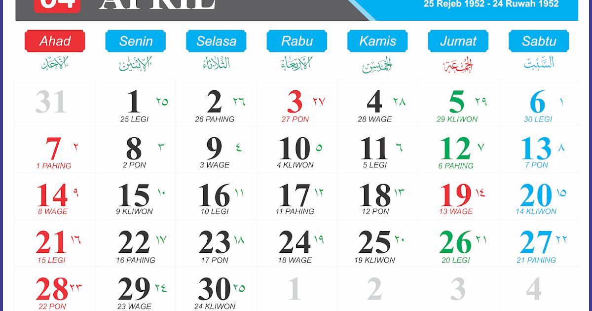 Kalender Jawa Maret Dan April 2021 - Kalender Indonesia ...