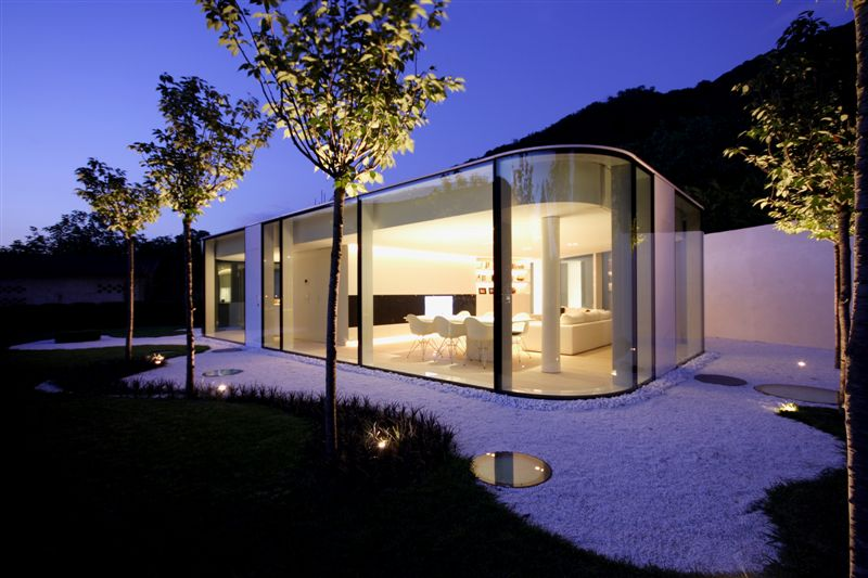 Glass Pavilion House Lake Lugano Switzerland Most