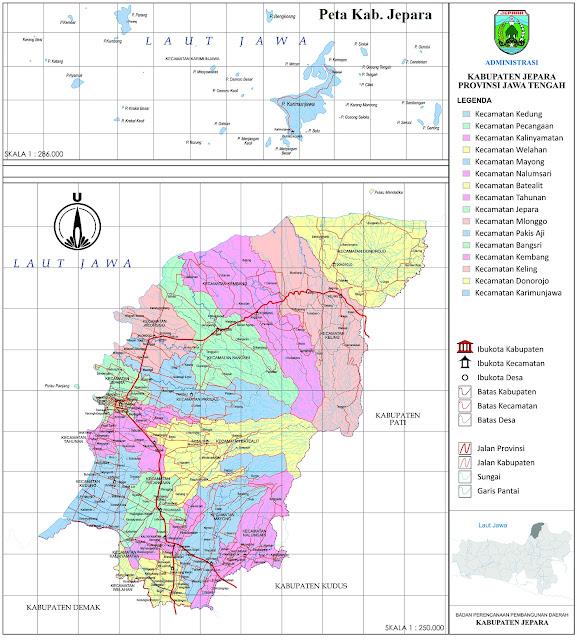 Peta Administrasi Kabupaten Jepara
