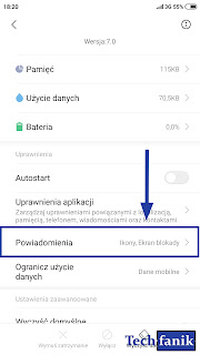 xiaomi ustawienia powiadomień aplikacji