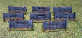 A set of barricades for Star Wars: Legion