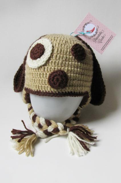 Pimentinha Crochê  Touca - Cachorrico Orelhudo (Cachorro Orelhudo) 8771a524a96